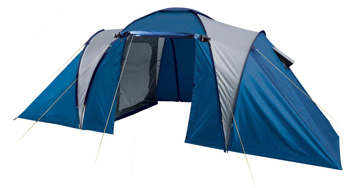 Палатка четырехместная TREK PLANET Toledo Twin 4, цвет: синий, серый70116Четырехместная двухслойная семейная кемпинговая палатка TREK PLANET Toledo Twin 4 с двумя отдельными спальными отделениями, отличной вентиляцией и большим тамбуром между спальными отделениями - отличный выбор для семейного кемпинга и отдыха на природе. Особенности модели: - Тент палатки из полиэстера с пропиткой PU надежно защищает от дождя и ветра. - Все швы проклеены. - Большое и высокое внутреннее помещение между спальными отделениями палатки, где свободно размещается кемпинговый стол и стулья на 4 человек. - Эффективная потолочная система вентиляции в тамбуре, - Дно из прочного водонепроницаемого армированного полиэтилена позволяет устанавливать палатку на жесткой траве, песчаной поверхности, глине и т.д. - Дуги из прочного стекловолокна; - Внутренние палатки из дышащего полиэстера, обеспечивают вентиляцию помещения и позволяют конденсату испаряться, не проникая внутрь палатки; - Вентиляционные окна в спальных отделениях, - Удобная D-образная дверь на входах во внутренние палатки, - Москитная сетка на каждом входе во внутреннюю палатку в полный размер двери; - Внутренние карманы для мелочей в каждом отделении; - Возможность подвески фонаря в палатке; Для удобства транспортировки и хранения предусмотрен чехол из полиэстера, с двумя ручками и закрывающийся на застежку-молнию. Характеристики: Количество мест: 4 Цвет: синий, серый. Размер:240 х (140+185+140) х 190 см. Размер внутренней палатки: 220 х 140 х 150 см Материал внешнего тента: 100% полиэстер, пропитка PU. Водос... Рекомендуем!