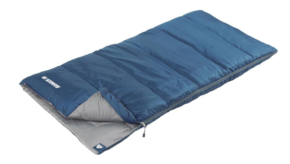 Спальный мешок Trek Planet Ranger Jr, цвет: синий, левосторонняя молния