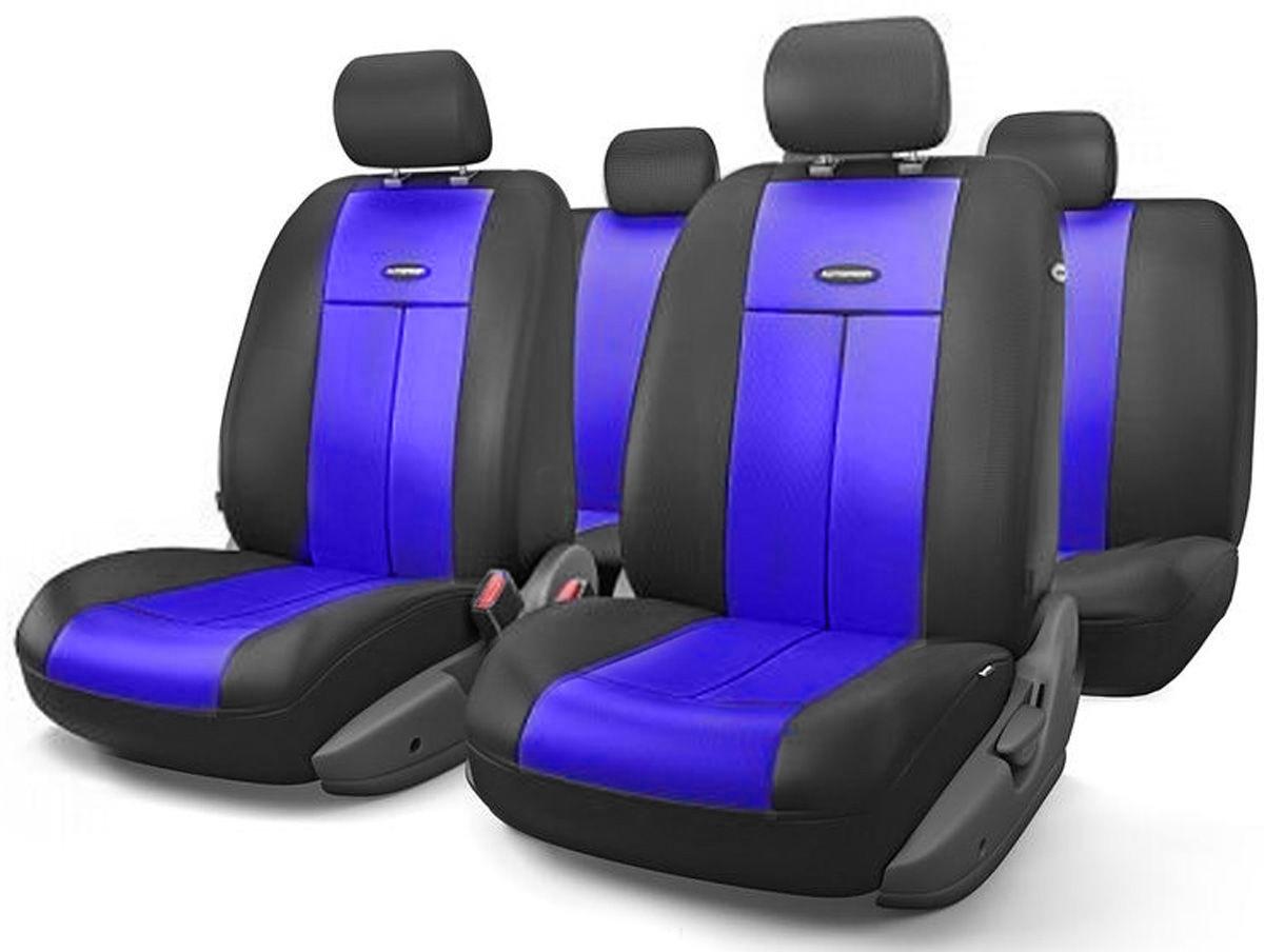Авточехлы Autoprofi TT, цвет: черный, синий, 9 предметов. TT-902V BK/BL alliance 324 9 5 32 tt