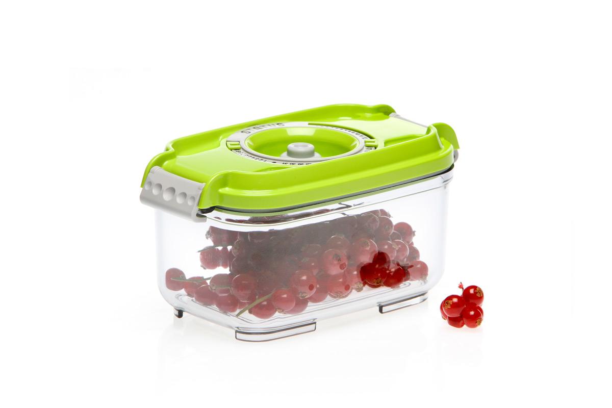 Фото - Контейнер вакуумный Status, цвет: прозрачный, зеленый, 0,5 л контейнер вакуумный status цвет прозрачный зеленый 4 5 л