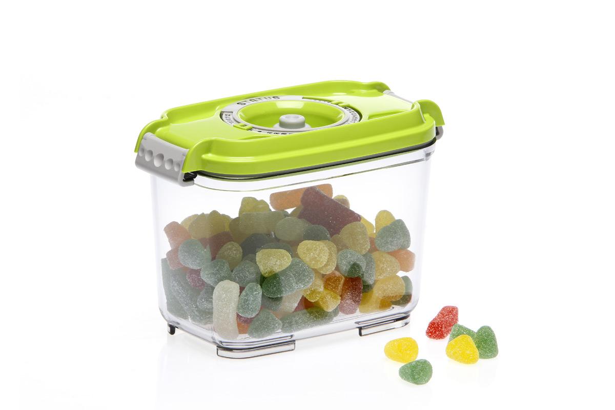 Фото - Контейнер вакуумный Status, цвет: прозрачный, зеленый, 0,8 л контейнер вакуумный status цвет прозрачный зеленый 4 5 л