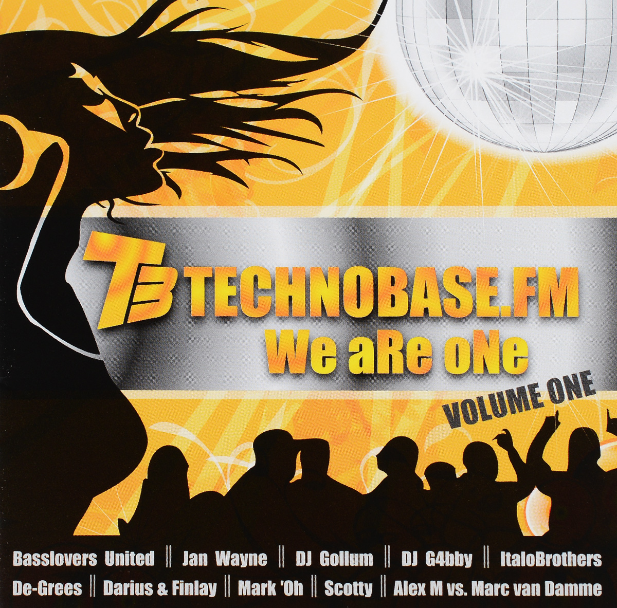 DJ G4bby,Ян Ване,De-Grees,Italobrothers,Dj Gollum,Dj Lanai,Ti-Mo,Dan Winter,Dj Somy,Lazy Monkeys Technobase.FM. We Are One. Volume 1 (2 CD) dj bobo köln