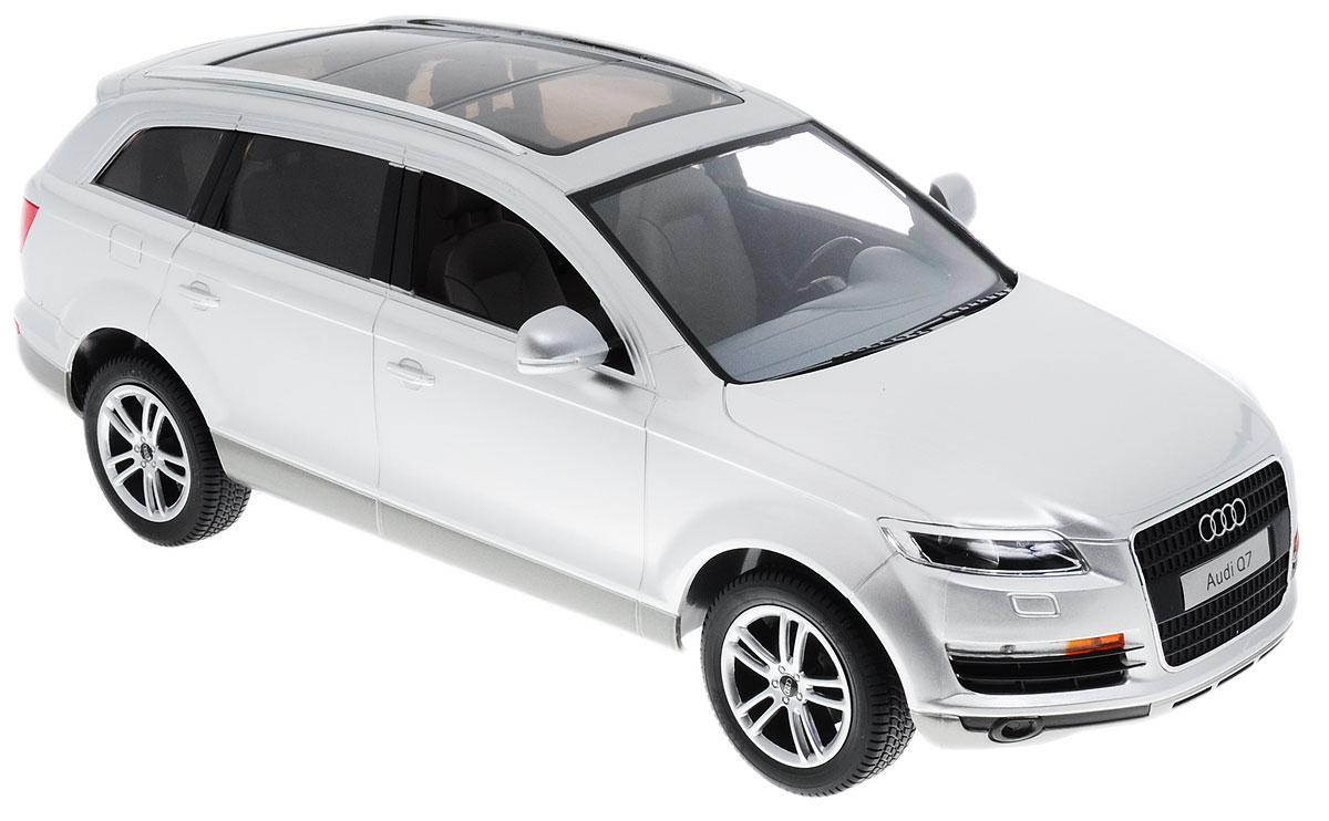 Rastar Радиоуправляемая модель Audi Q7 цвет серебристый масштаб 1:14 комплект электрики westfalia audi q7 2006 305500300113