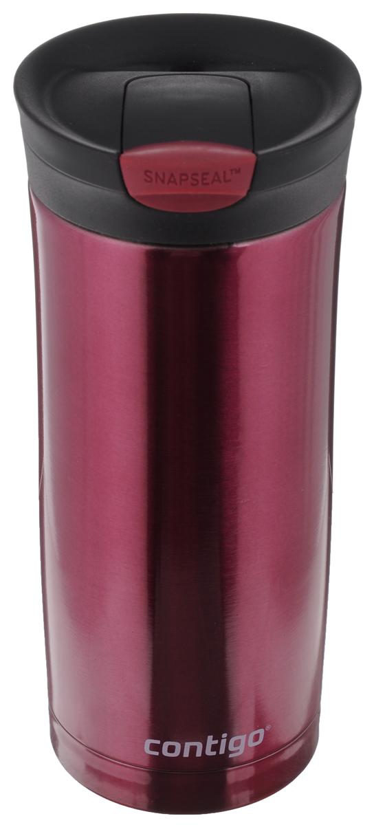 Термокружка Contigo Huron, цвет: винный, 470 мл contigo детский стакан для воды floating straw tumbler с трубочкой цвет голубой 470 мл