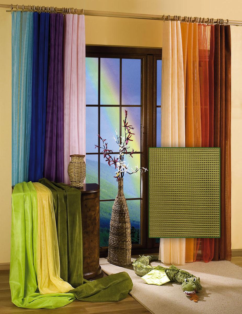 Гардина Wisan, цвет: оливковый, ширина 150 см, высота 250 см гардина wisan 040w