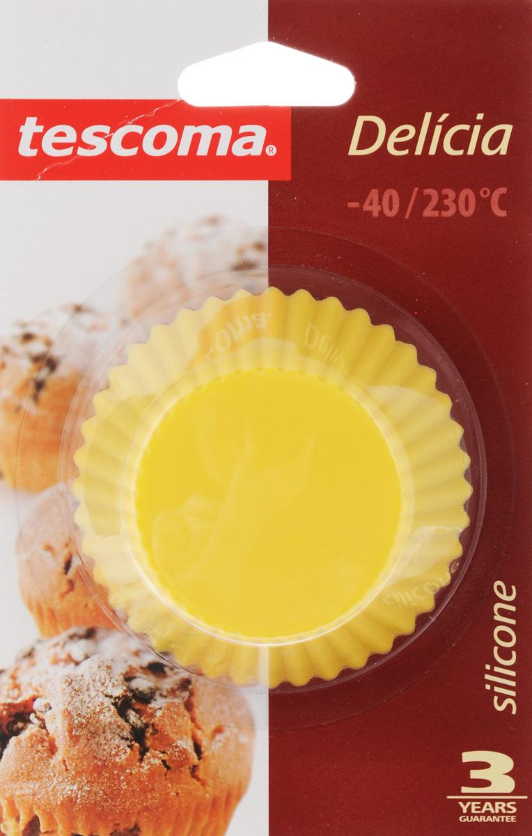 Форма для выпечки Tescoma Delicia, силиконовая, диаметр 7 см, 6 шт форма для выпечки tescoma для 12 мини кексов delicia 26 x 20 cm 623224