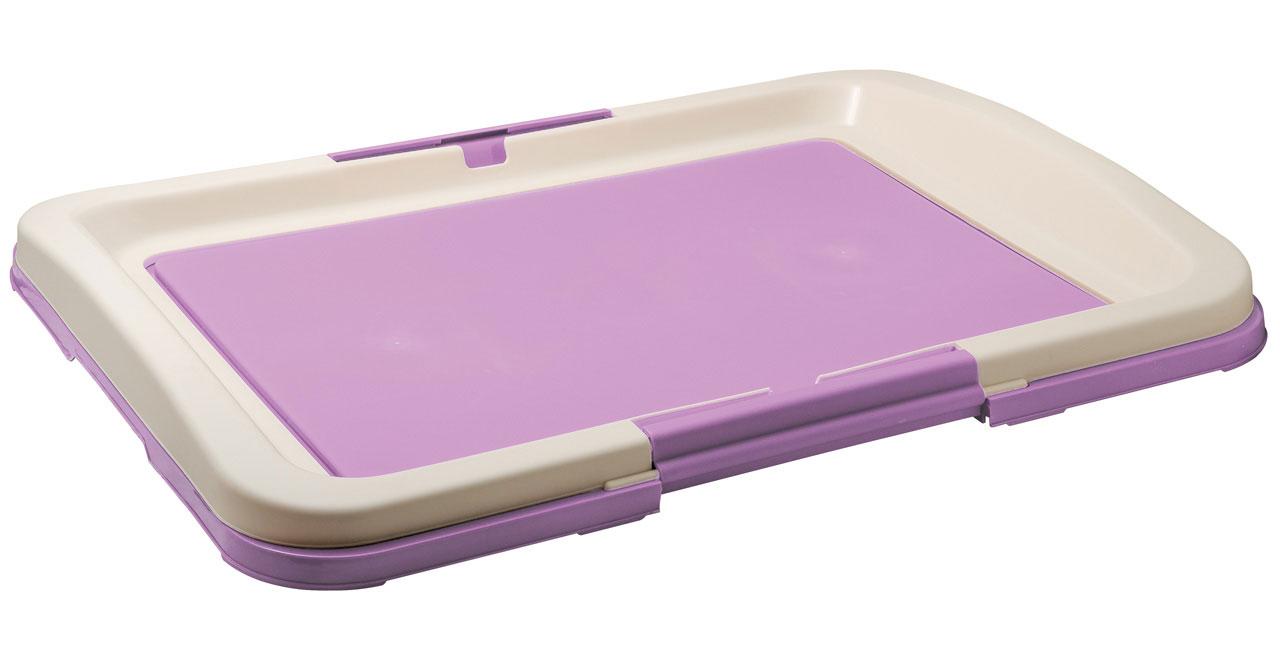 Туалет для собак V.I.Pet Японский стиль, цвет: фиолетовый, молочный, 63 х 49 х 6 см туалет для собак v i pet японский стиль цвет коричневый молочный 48 х 35 х 5 см