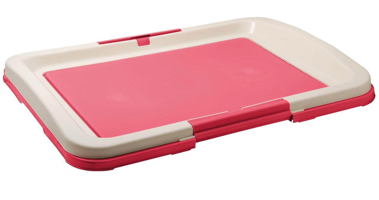 """Туалет для собак V.I.Pet """"Японский стиль"""", цвет: розовый, молочный, 63 х 49 х 6 см"""