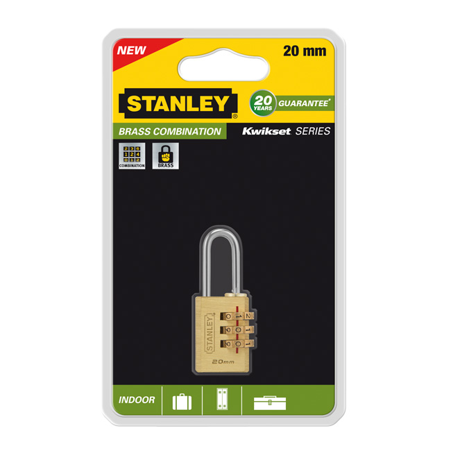 Замок навесной Stanley, с 3-х значным кодом, 20 мм. S742-050 замок для выдвижных шкафчиков lubby