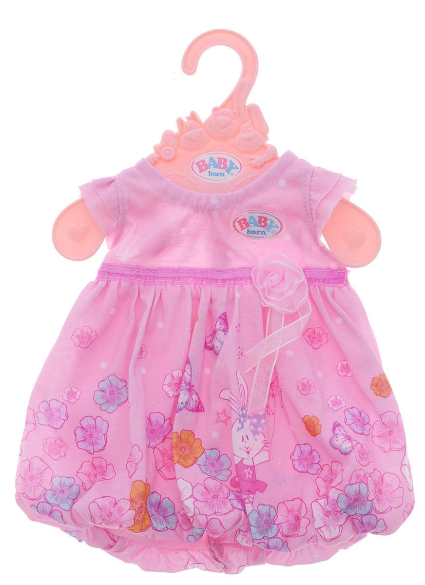 Baby Born Одежда для кукол Платье цвет розовый baby born пустышка для кукол