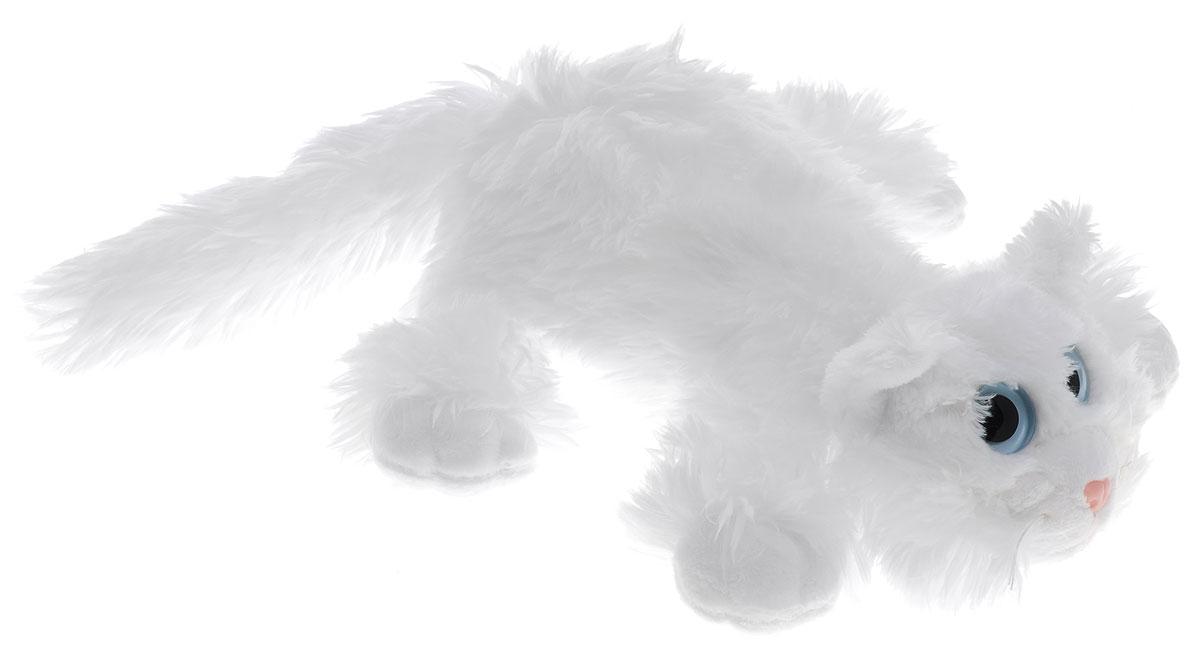 Gulliver Мягкая игрушка Котик Шалунишка цвет белый 22 см