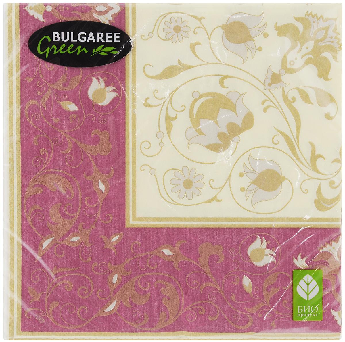 Салфетки бумажные Bulgaree Green Белиссимо, трехслойные, 33 х 33 см, 20 шт салфетки бумажные bulgaree green совы трехслойные 33 х 33 см 20 шт