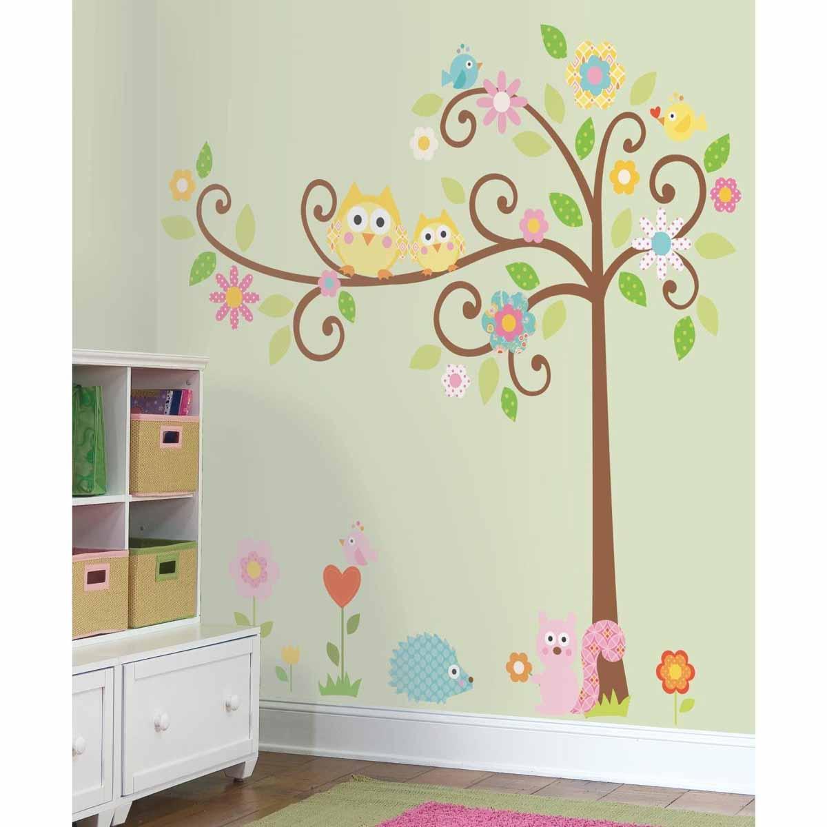 RoomMates Наклейка интерьерная Дерево с завитками 80 шт наклейка на стену space art