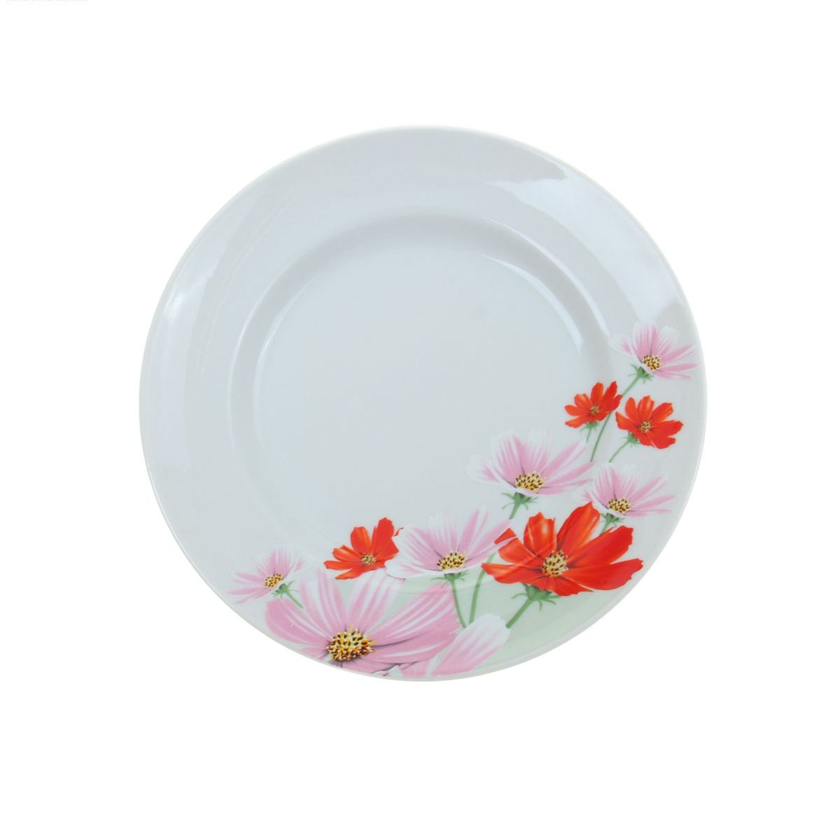 Тарелка мелкая Идиллия. Космея, диаметр 20 см тарелка мелкая сотвори чудо бантик sans brides диаметр 20 см