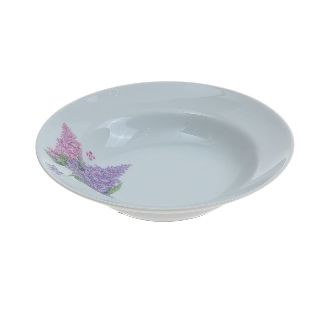 Тарелка глубокая Идиллия. Сирень, диаметр 20 см тарелка мелкая идиллия ромашка диаметр 20 см 5с0189