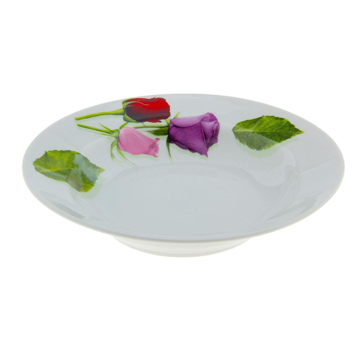 Тарелка глубокая Идиллия. Королева цветов, диаметр 20 см тарелка мелкая идиллия ромашка диаметр 20 см 5с0189