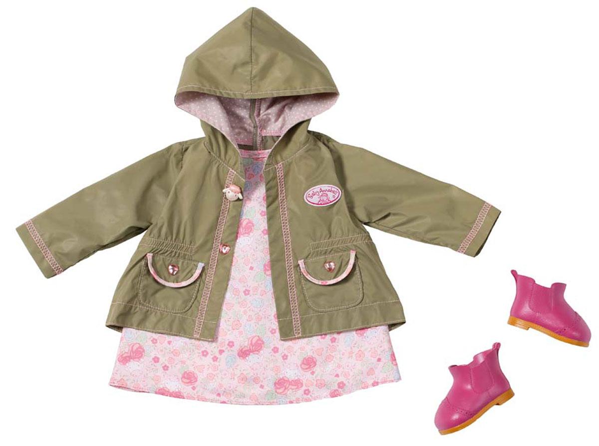 Baby Annabell Комплект демисезонной одежды для куклы памперсы для куклы baby annabell 5 шт