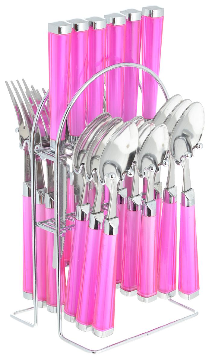 Набор столовых приборов Mayer&Boch, цвет: розовый, серебристый, 25 предметов. Mayer&Boch-22488