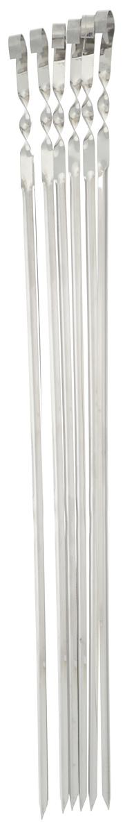 Набор угловых шампуров RoyalGrill, длина 62 см, 6 шт набор угловых шампуров искра 50 см 6 шт