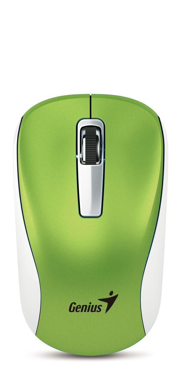 Мышь Genius NX-7010, Green беспроводная мышь genius nx 7010 беспроводная 2 4ггц 1200dpi green