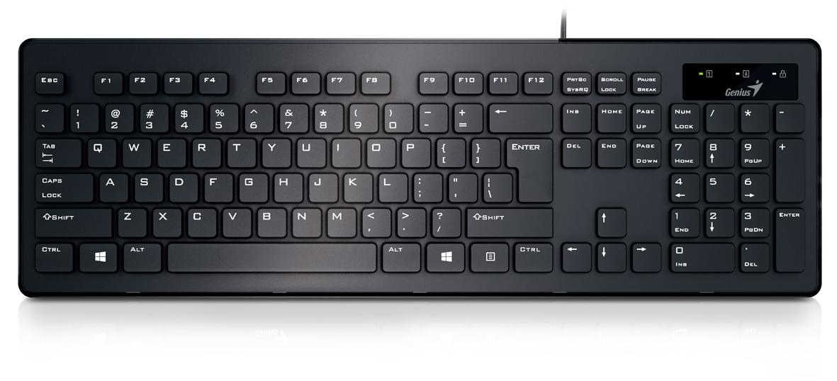 лучшая цена Genius SlimStar 130, Black клавиатура