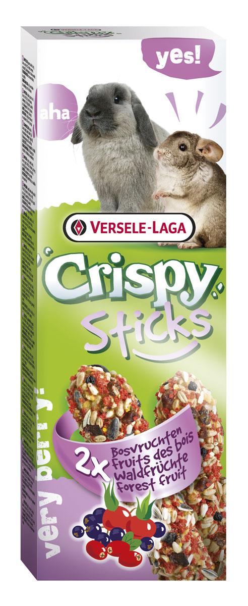 Палочки для кроликов и шиншилл Versele-Laga Crispy, с лесными ягодами, 2 х 55 г лакомство для грызунов versele laga crispy палочки для кроликов и шиншилл с лесными ягодами 2х55г