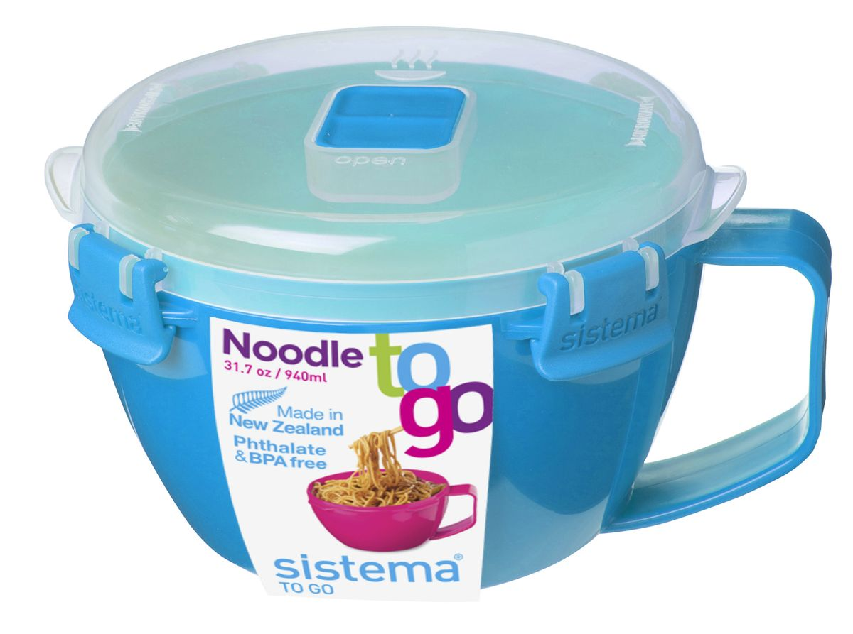 "Кружка для лапши Sistema ""TO-GO"", цвет: голубой, 940 мл"