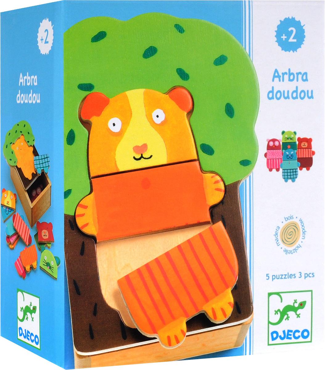 Djeco Пазл для малышей Деревянные зверюшки djeco пазл для малышей иглу