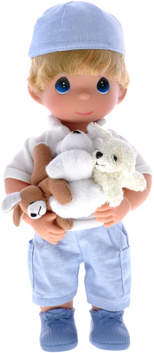 Precious Moments Кукла Мальчик и щенки