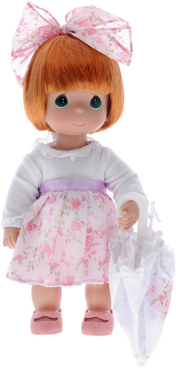 Precious Moments Кукла с зонтиком цвет волос рыжий4784Коллекция кукол Precious Moments ростом выше 30 см насчитывает на сегодняшний день более 600 видов.Куклы изготавливаются из качественного, безопасного материала и имеют пять базовых точек артикуляции. Каждый год в коллекцию добавляются все новые и новые модели. Каждая кукла имеет свой неповторимый образ и характер. Она может быть подарком на память о каком- либо событии в жизни. Куклы выполнены с любовью и нежностью, которую дарит нам известная волшебница - создатель кукол Линда Рик!Кукла с зонтиком Precious Moments обязательно привлечет внимание вашей малышки и не позволит ей скучать. Куколка одета в нарядное платье, на ножках - розовые ботиночки. Дополнением к прическе служит текстильный бантик. В наборе с куклой имеется зонтик. Одежда съемная.Кукла научит ребенка взаимодействовать с окружающими, а также поспособствует развитию воображения, логики и тактильного восприятия.