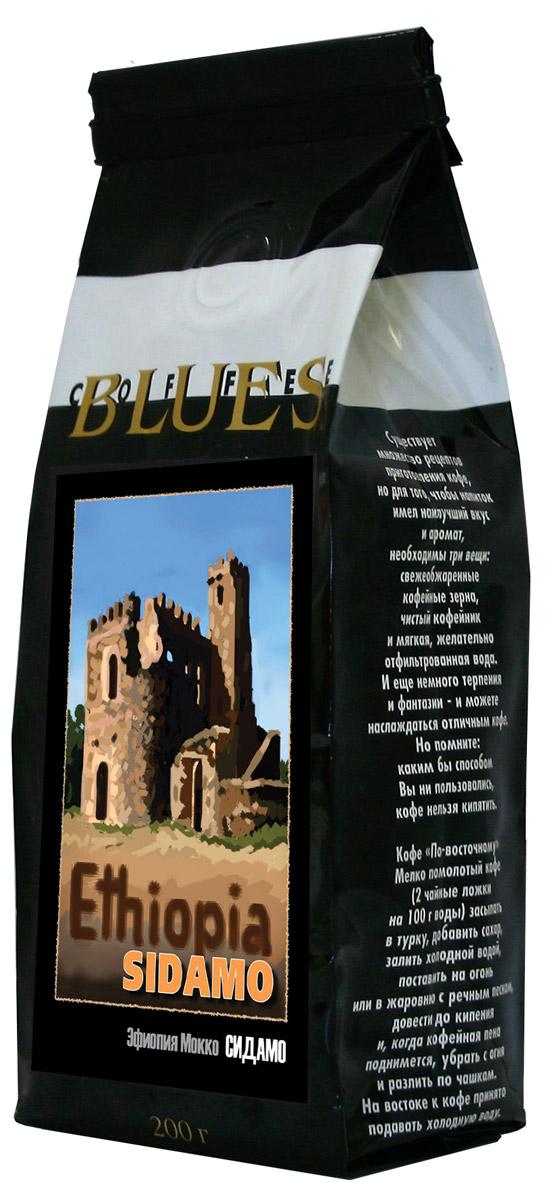 Блюз Эфиопия Мокко Сидамо кофе в зернах, 200 г блюз эфиопия мокко сидамо кофе молотый 200 г