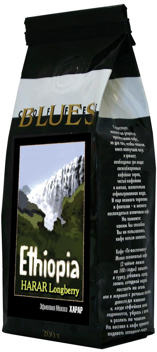 Блюз Эфиопия Мокко Харрар кофе в зернах, 200 г блюз эфиопия мокко сидамо кофе молотый 200 г