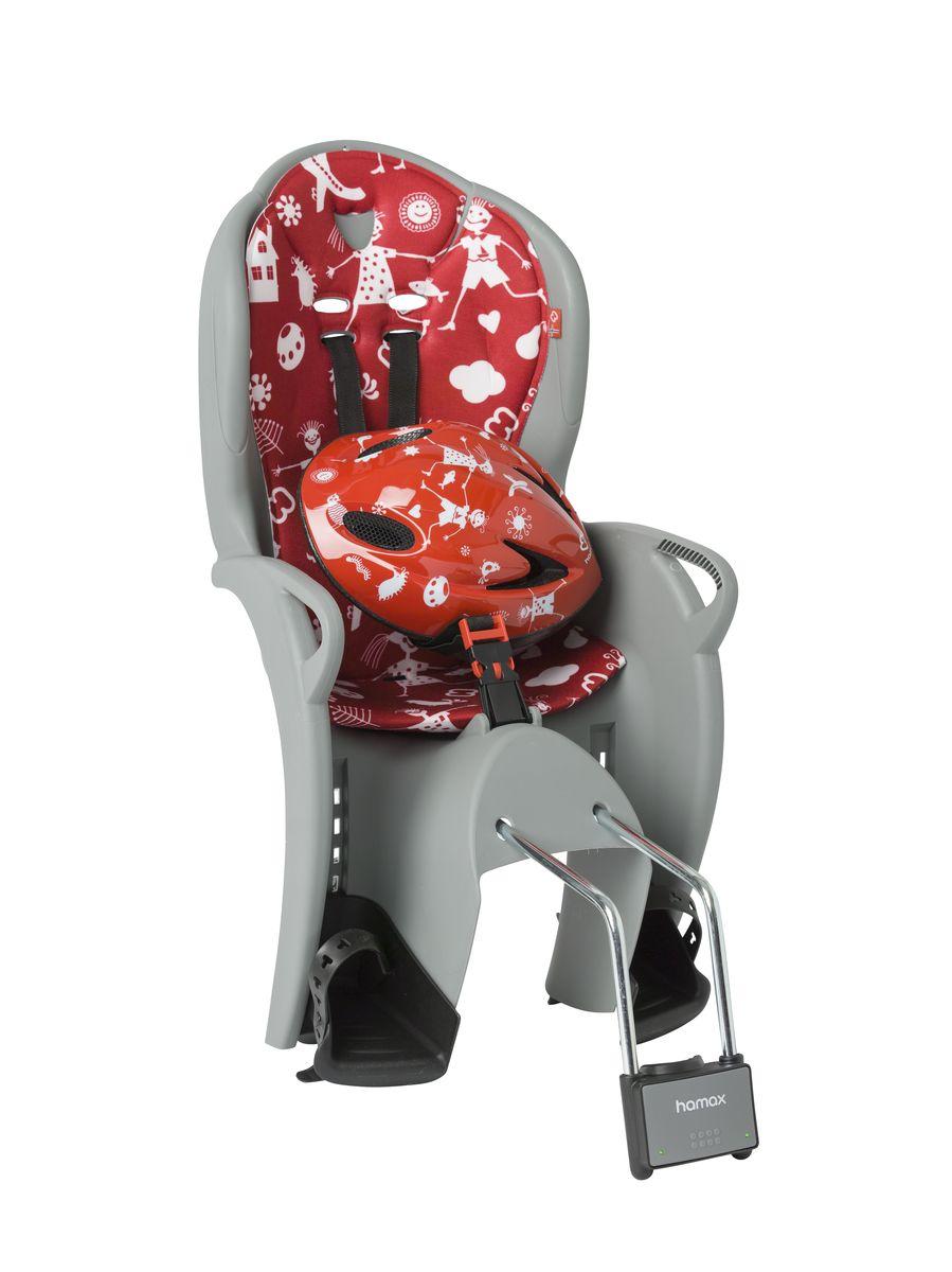 Детское кресло Hamax Kiss Safety Package, цвет: серый, красный