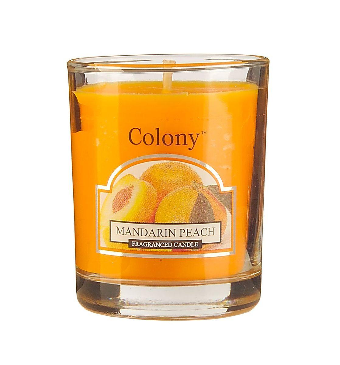 Свеча ароматическая лампадная Wax Lyrical Мандарин и персик, 14 часов, 130 г свеча ароматическая лампадная wax lyrical альпийский лес 16 часов горения