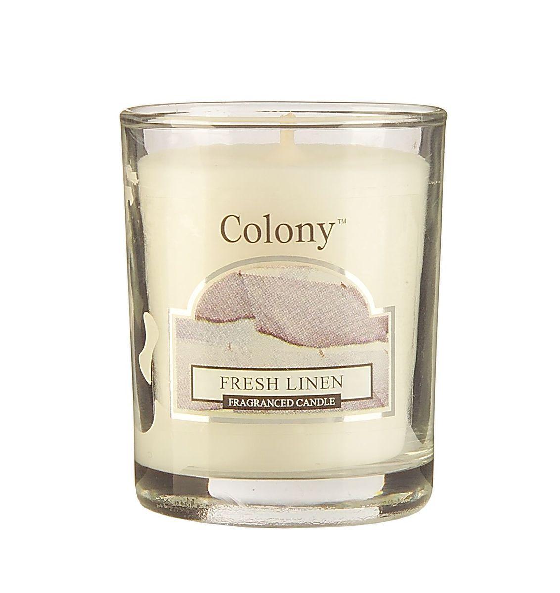 Свеча ароматическая лампадная Wax Lyrical Свежий лен, 14 часов, 130 г ароматическая свеча woodwick лен маленькая