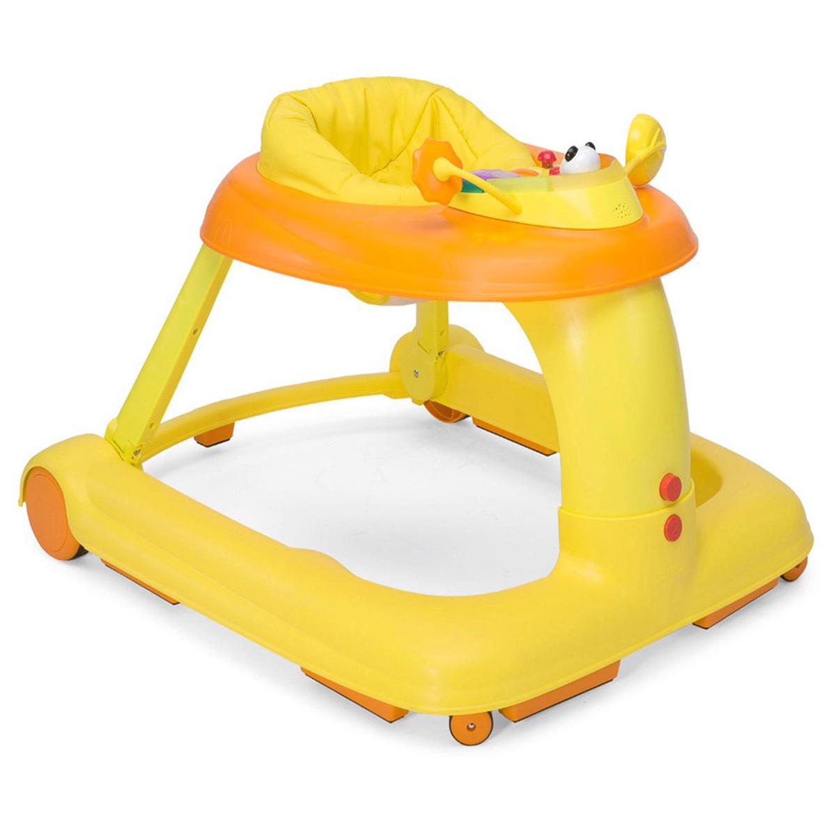 Каталка-ходунки Chicco 123 Baby Walker, цвет: оранжевый chicco игровой центр каталка baby walker 2 в 1 chicco