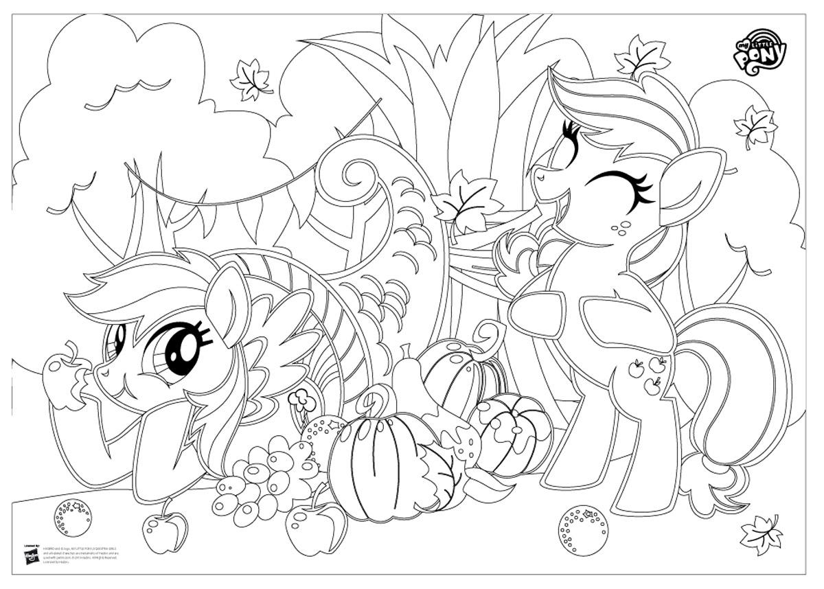 My Little Pony Раскраска напольная Радуга Дэш и Эпплджек ...