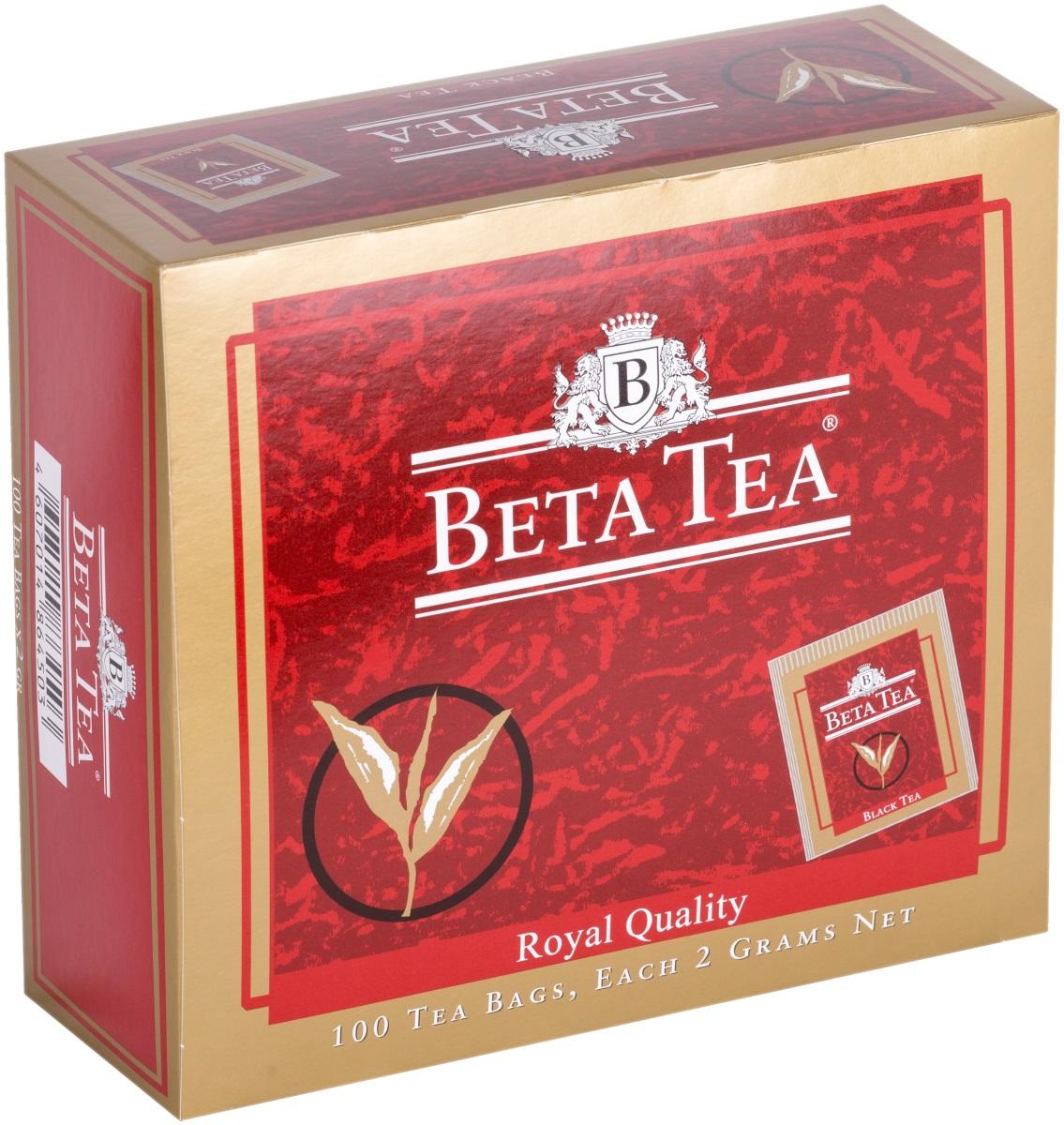 Beta Tea Королевское качество черный чай в пакетиках, 100 шт beta tea отборное качество черный листовой чай 100 г