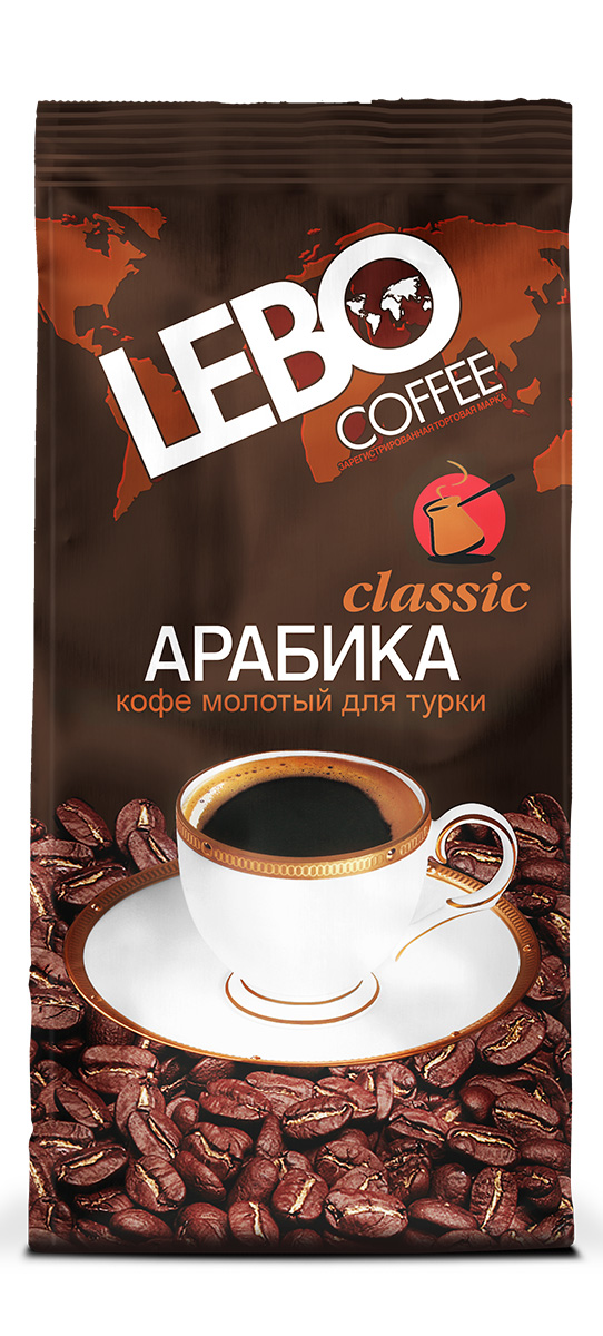 Lebo Classic Арабика кофе молотый, 100 г цены