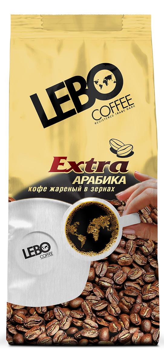Lebo Extra Арабика кофе в зернах, 250 г lebo extra кофе растворимый порционный 25 шт х 2 г