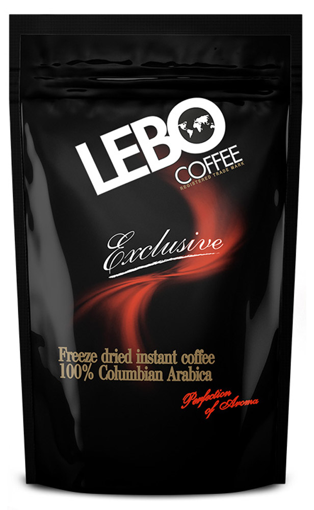 Lebo Exclusive кофе растворимый, 100 г (пакет) lebo extra кофе растворимый порционный 25 шт х 2 г