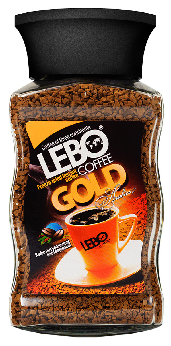Lebo Gold кофе растворимый, 100 г lebo extra кофе растворимый порционный 25 шт х 2 г