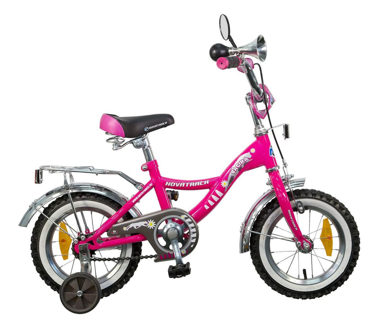цена на Велосипед детский Novatrack Bagira, цвет: розовый, 12