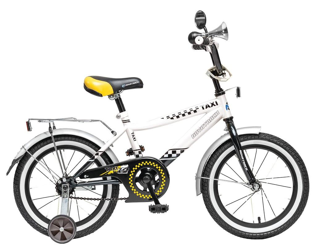 цена на Велосипед детский Novatrack Taxi, цвет: черный, белый, 16