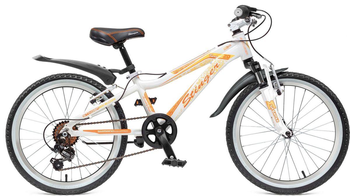 Фото - Велосипед детский Stinger Fiona Kid 20, цвет: белый запчасть shimano tourney ty21 b ss 6ск ardty21bssbl