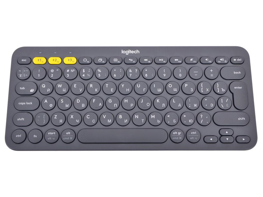 Клавиатура Logitech K380, Dark Grey беспроводная