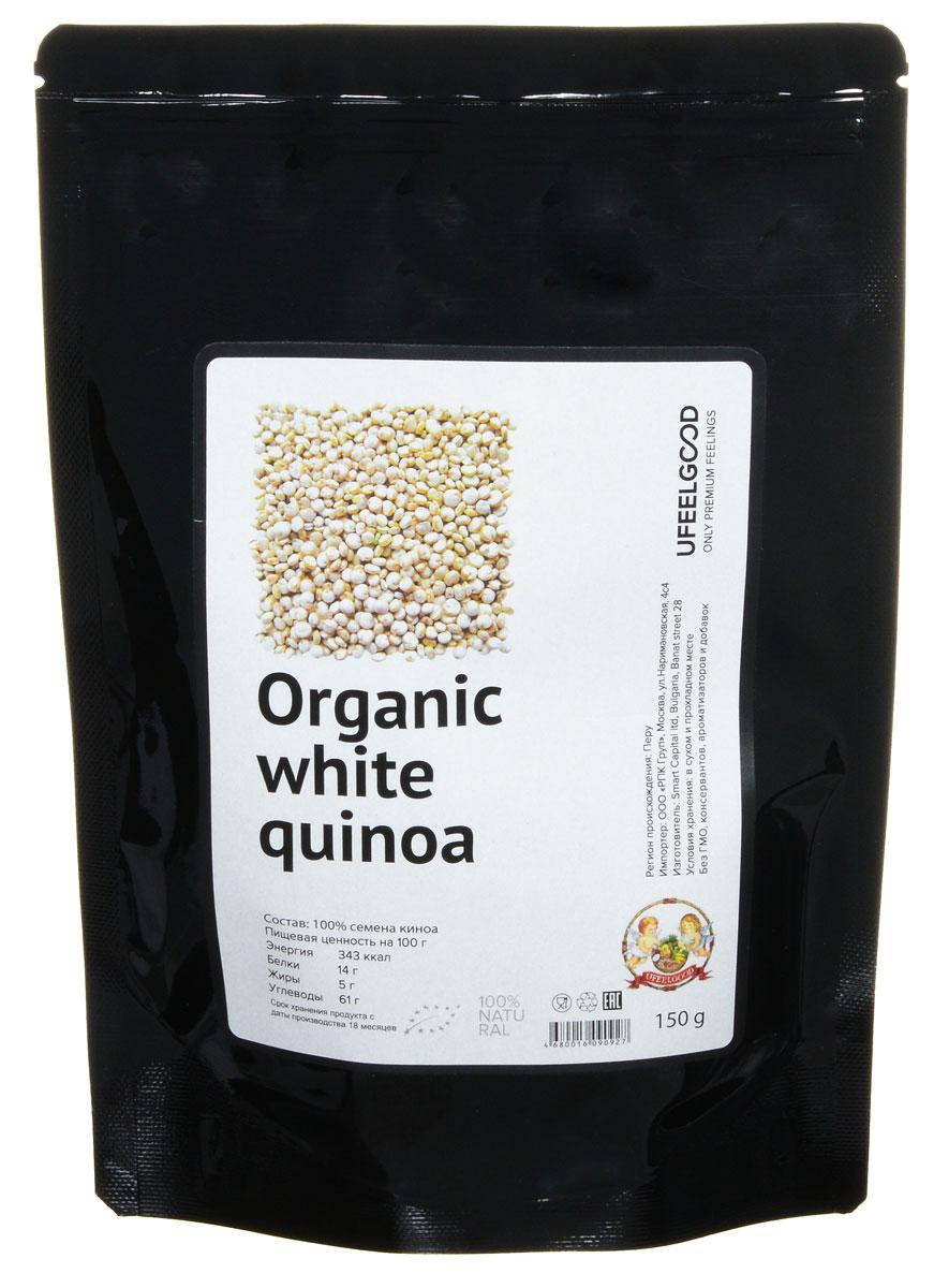UFEELGOOD Organic White Quinoaорганические семена киноа белые, 150 г UFEELGOOD