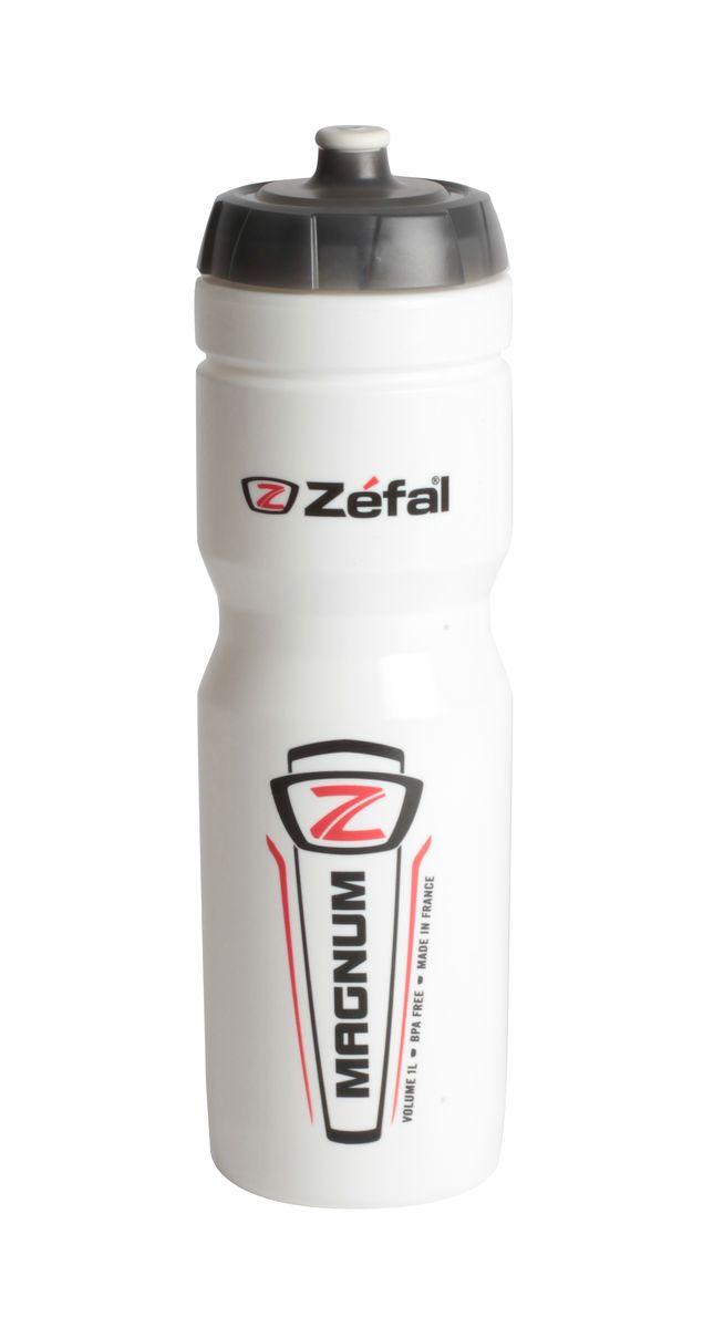 Фляга велосипедная Zefal Magnum, цвет: белый, 1 л. 164С фляга велосипедная zefal sense m65 цвет белый 650 мл 155a