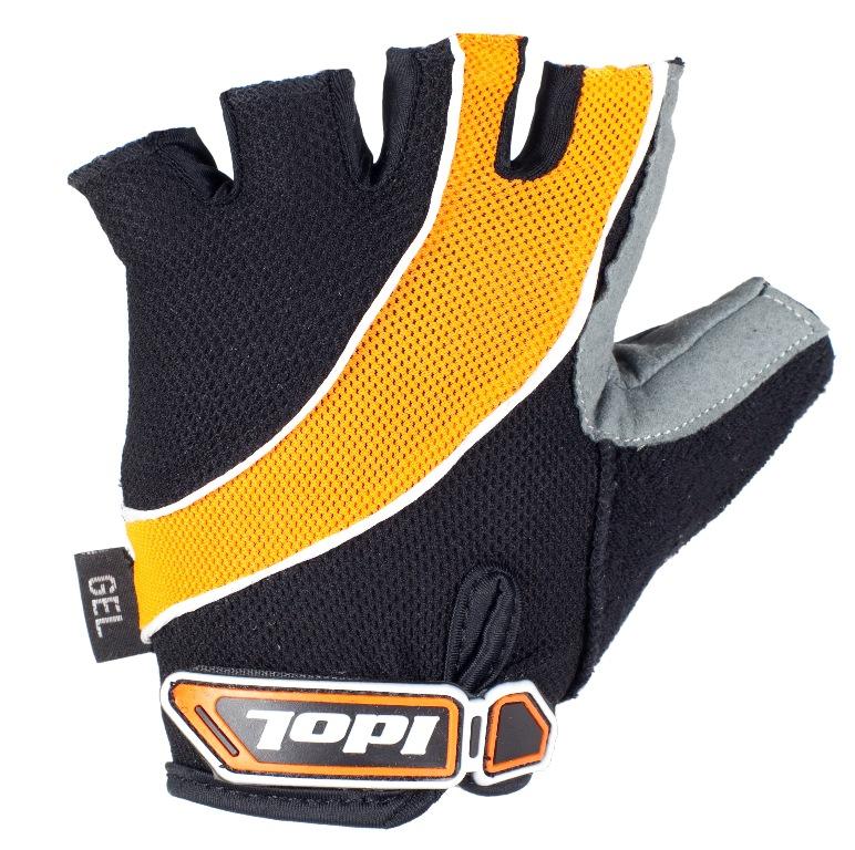 """Перчатки велосипедные """"Idol"""", цвет: черный, оранжевый. 1530. Размер М"""