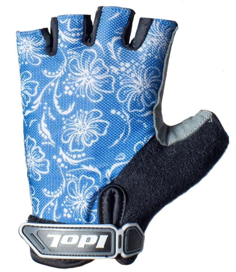 """Перчатки велосипедные женские """"Idol"""", цвет: черный, синий. 1576. Размер L"""